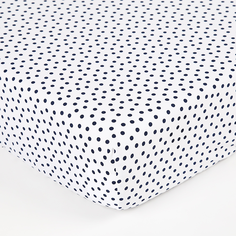 100% Cotton dots printed flannel blue kids bed <strong>sheets</strong> baby crib <strong>sheets</strong>