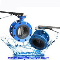 gearbox groved end butterfly valve cheap