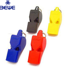 Colorful ABS Plastic Pealess Whistle With Lanyard