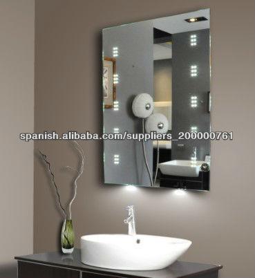 espejos de baño sin marco con luz-imagen-Espejos de Baño ...