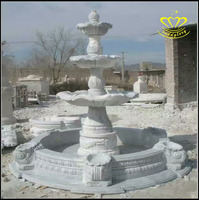 Garden stone carving 3 tiers large Marble water fountains for sale