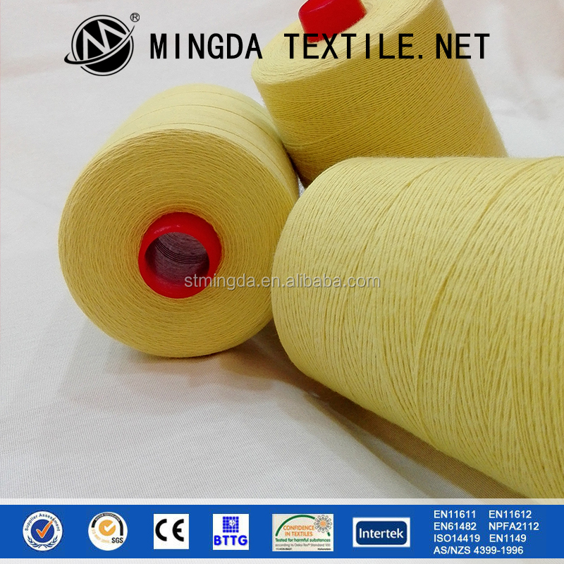 High strength flame retardant nomex yarn meta aramid fireproof yarn for protective purpose