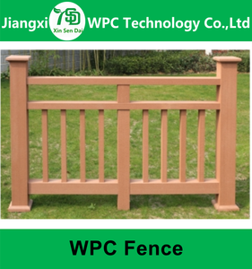 2017 Outdoor An-ti Termites Waterproof Decorative Garden WPC Fence Composite Railing