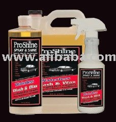"ProShine ""Waterless"" Car Wash prroduct"