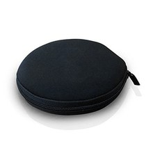 24 Capacity Neoprene portable DVD round CD case, kids cd cases with strong zipper