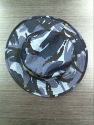 Dark blue round hat with string British marine camo military boonie cap and hat