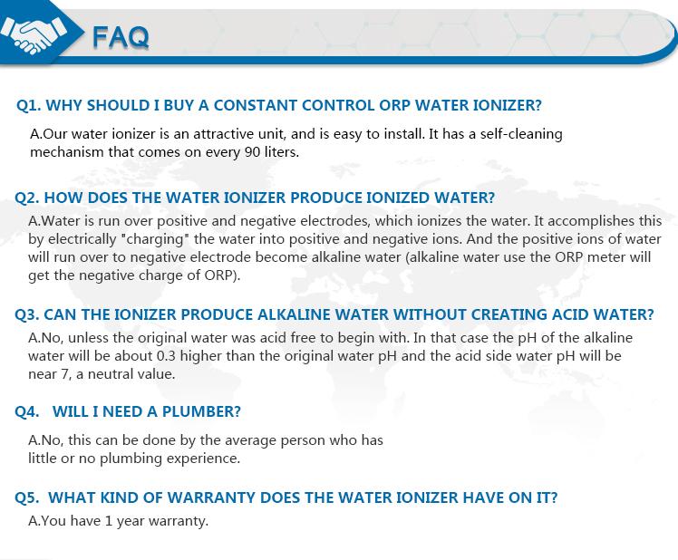 Ionized Water purifier
