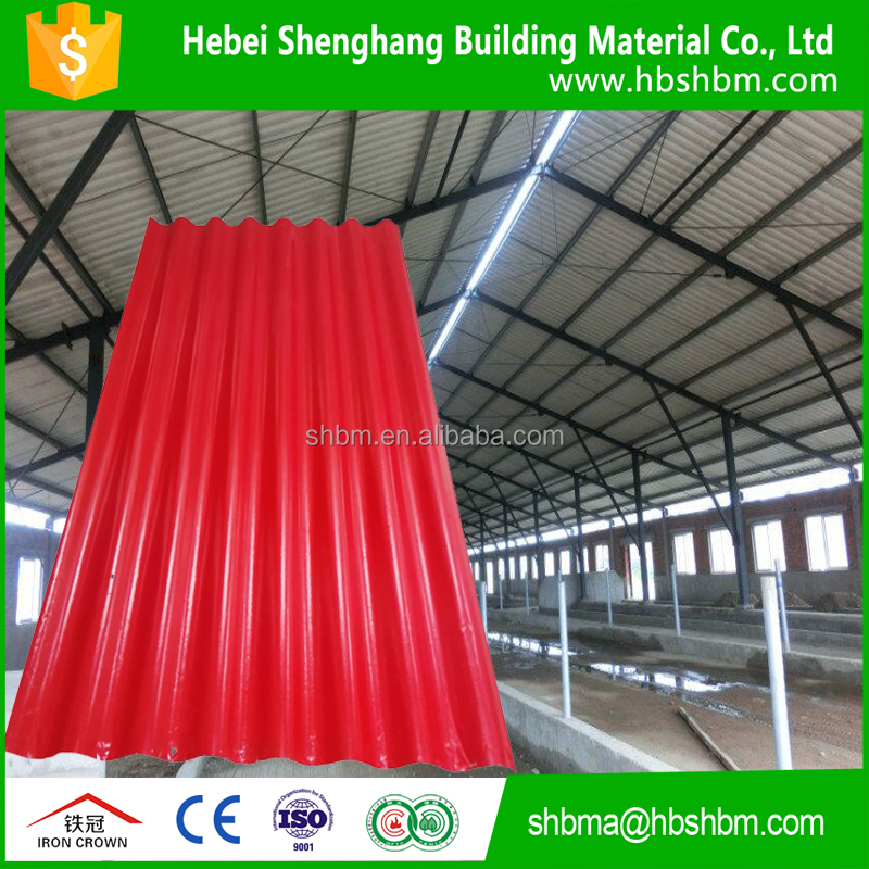 100% non-asbestos MGO roofing tiles with two layer fiber cement mesh