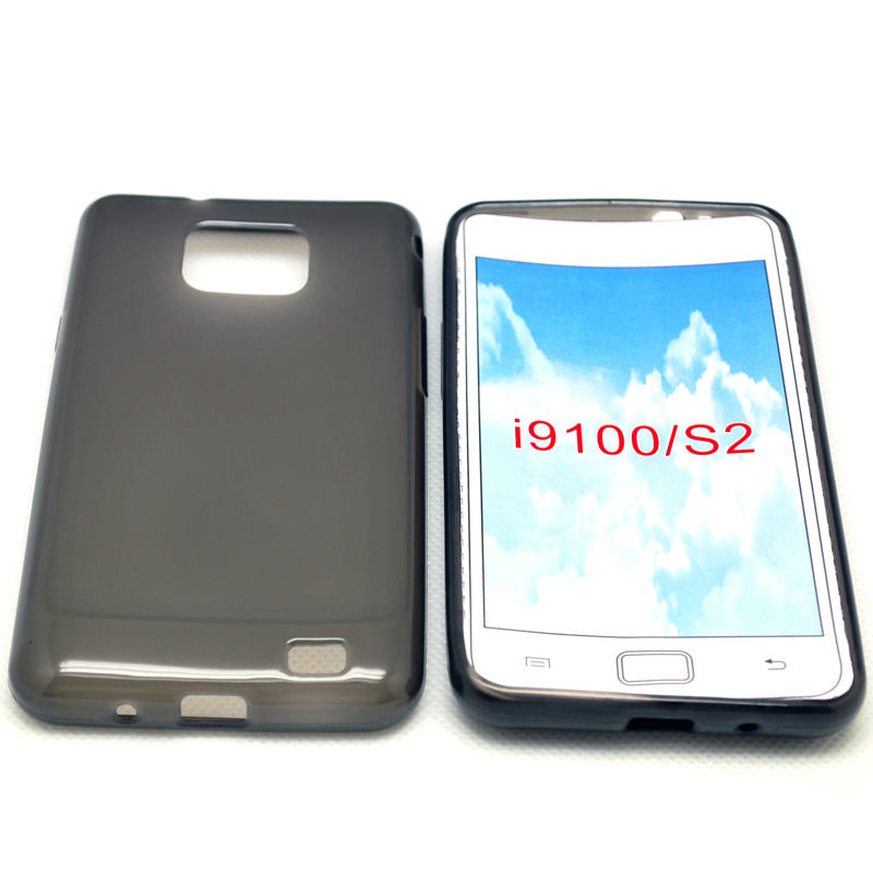 cellphone tpu case (gross outside,mette in side) for sumsung galaxy s2 I9100
