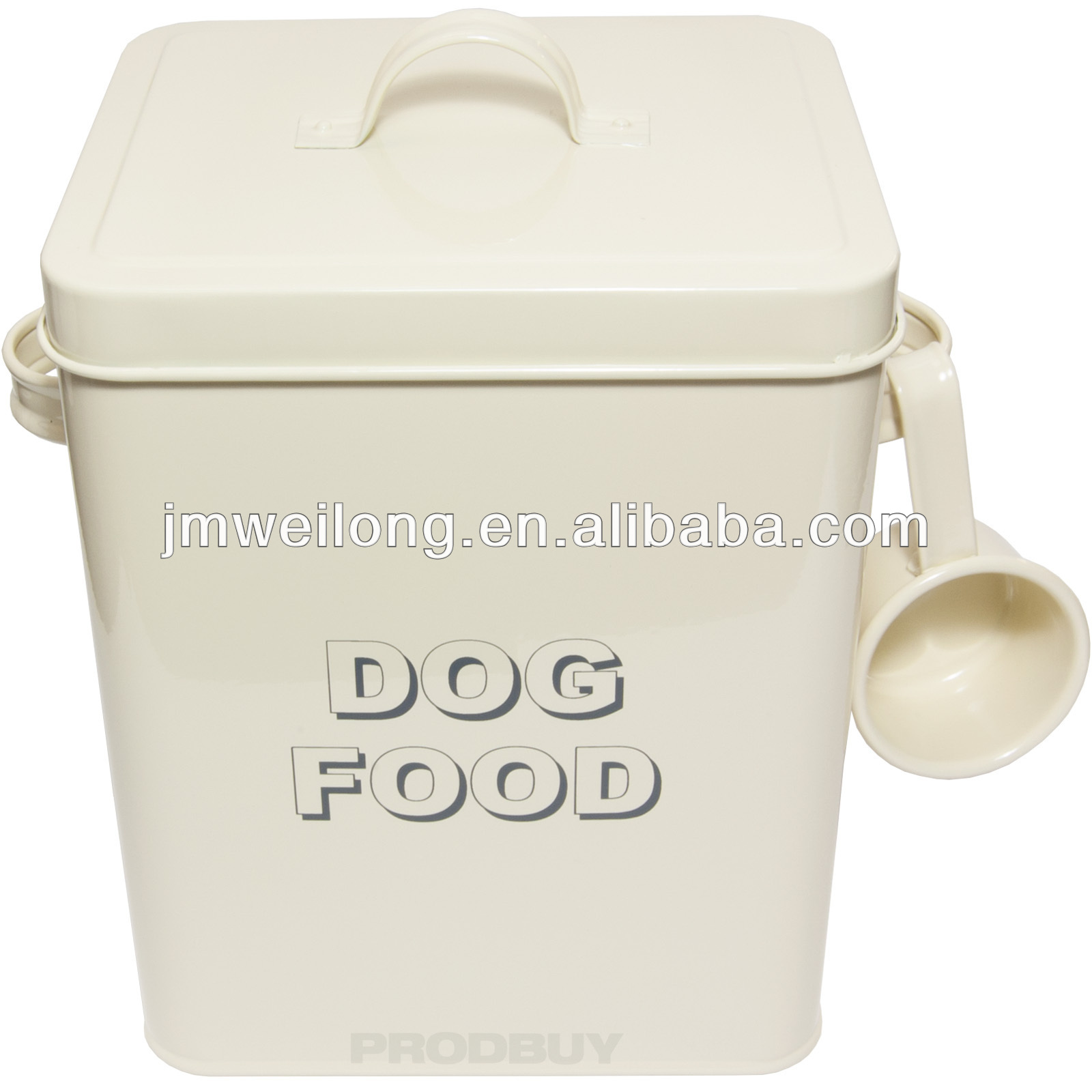 Metal pet food container/storage box/canister/bin