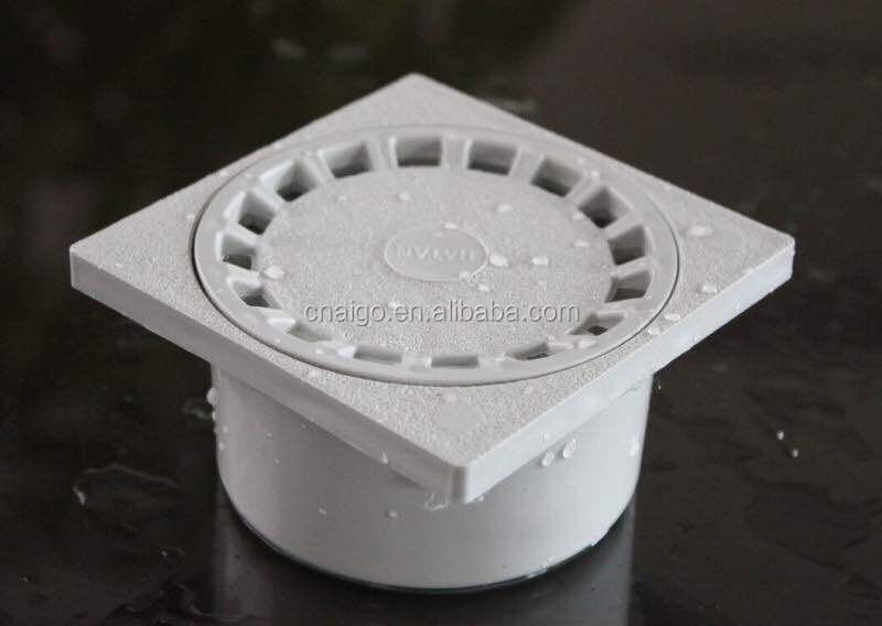 2016 Kitchen Plastic Shower PVC Rectangle Wall Side Floor Drain Strainer Cover
