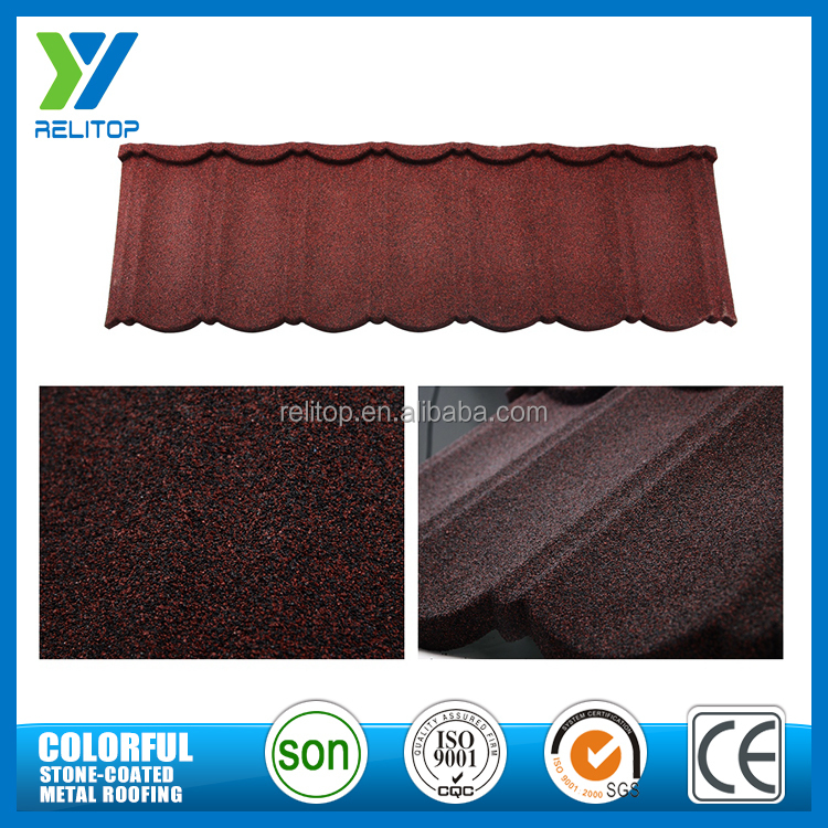 Wholesale price stones coated varied colors cheap metal roof tiles