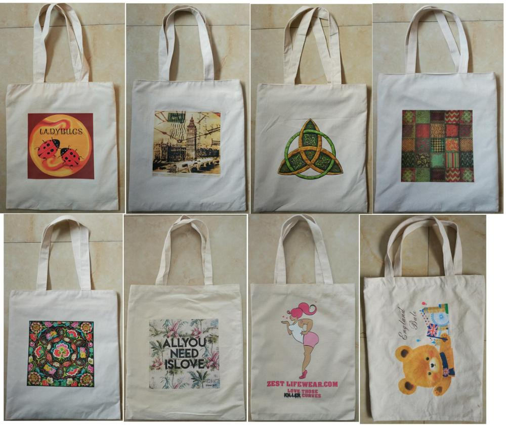 High Class Custom Sublimation Printing Cotton Shopping Tote Bag