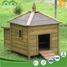 Spacious wooden Chicken house wooden waterproof Chinese cheap pet house outdoor with Iron net Active area Multi-function