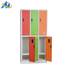 Kids dressing room cabinet furniture with 6 doors locker