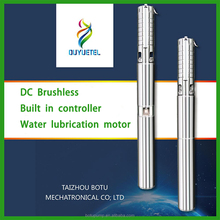 DC submersible solar pond pump, solar powered multistage water pump