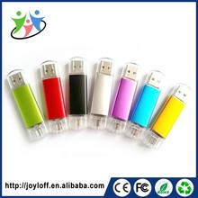 Ex-Factory Price Dual Double Plug Interface Otg Mobile Phone Pc 32 Gb Usb Pen Flash Drive