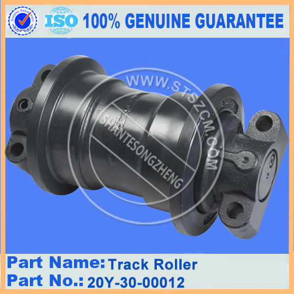 Hydraulic excavator PC220-6 undercarriage parts 20Y-30-00012 track roller assembly