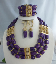 2016 3 layers purple coral tube necklace ! Fashion beauty bridal jewelry !