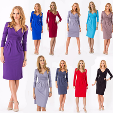 X86049A new design long sleeve women office dress designs pictures for ladies formal dress