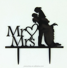 Mr&Mrs Marry Me Acrylic Cake Topper Wedding Party Decorations