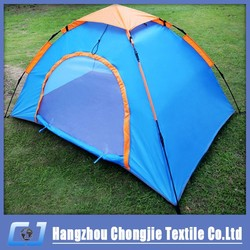 2015 Factory Custom Design Blue Outdoor Automatic Single Layer Camping Tent For Couples