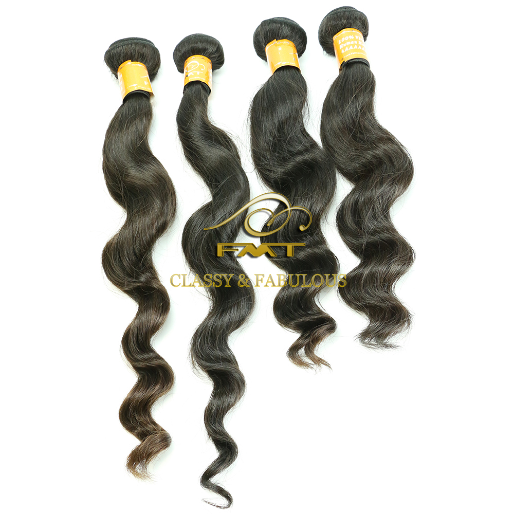 Shedding And Tangle Free Natural Color Loose Wave 100 Human Hair Brazilian hair weave styles picture