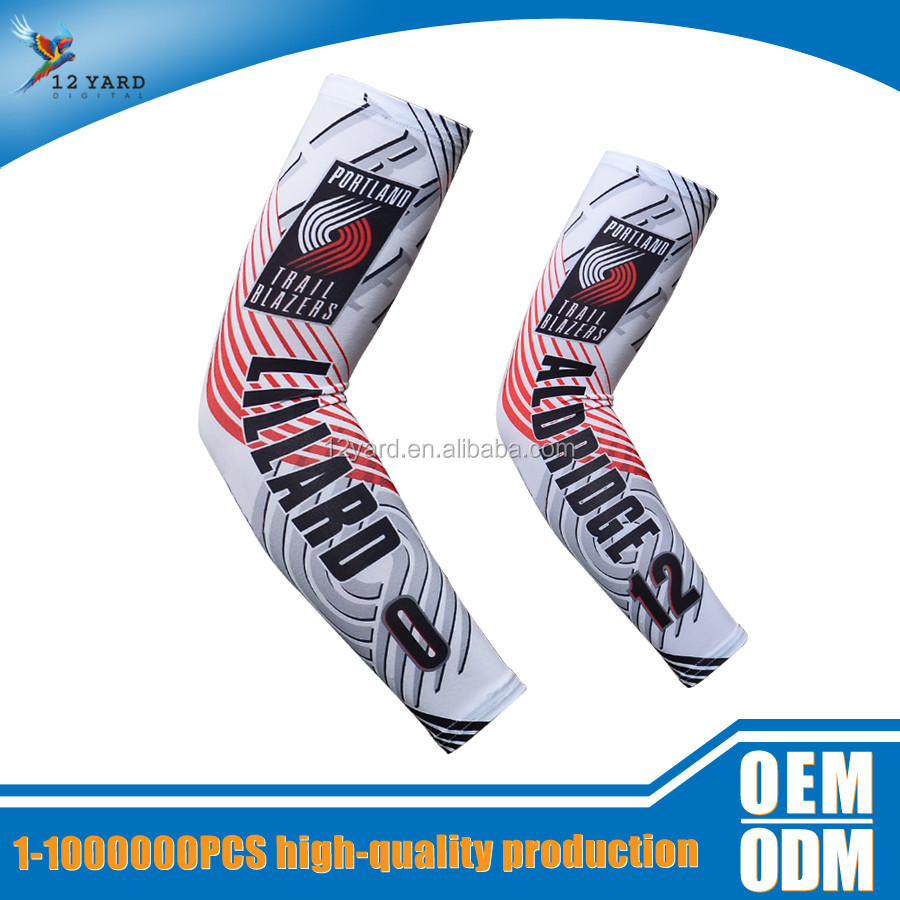 NEW Design Portland Arm Warmers Basketball Nylon Spandex Strong cool Arm Sleeves