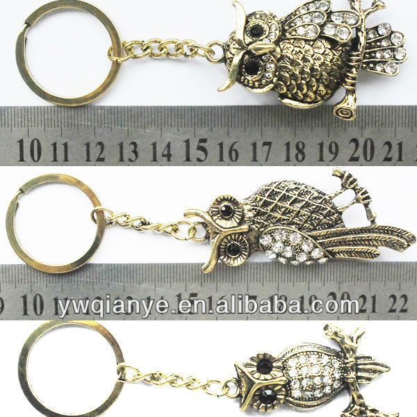 owl key holder/keychain/key ring,antiques and bronze statues