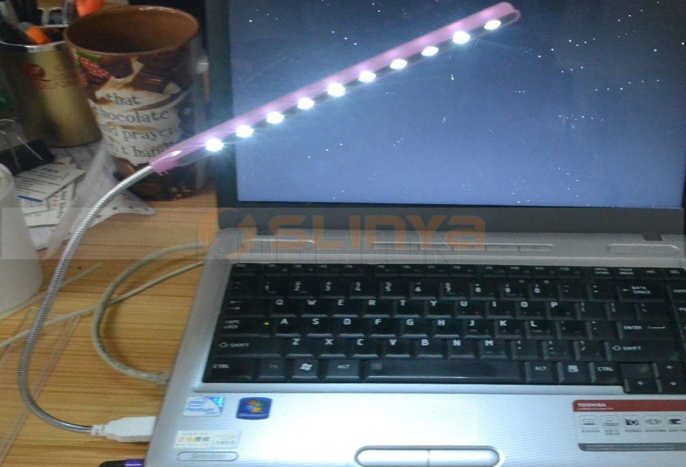 Computer Peripherals USB LED Ultra Bright Gooseneck Small Table Reading Lamp