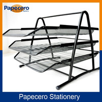 Office Metal Mesh Desk Organizer 3 Tier Document Tray