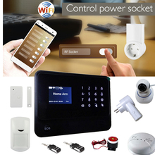 Control your light/tv/ fun by smartphone ! Cheer GS-WWG01 wifi home security alarm system with EU plug wireless socket