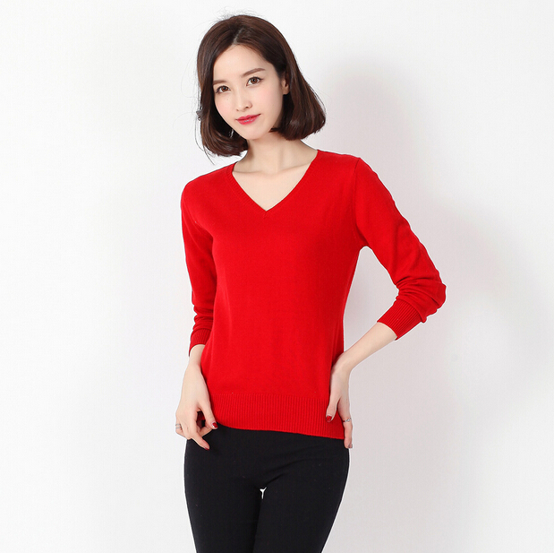 Woman Sweater Winter 2015 Warm Cashmere Sweaters Women Knitted Long Sleeve Sweaters And Pullovers Wool Jumper Top Outwear ZZH026
