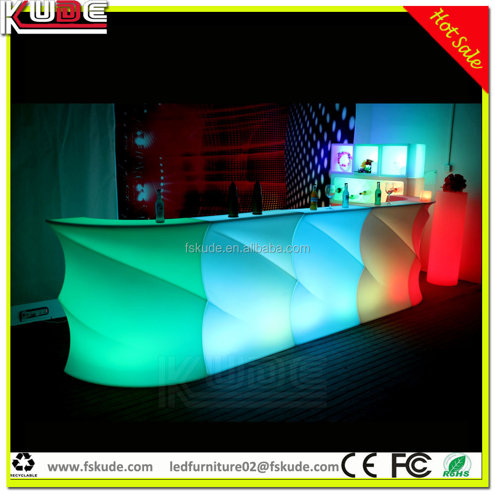 2016 new design Commercial modern wine mini lighted led bar counter for sale