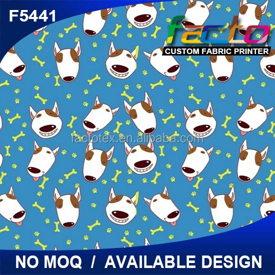Digital Printing 100% Cotton Fabric Cartoon Design
