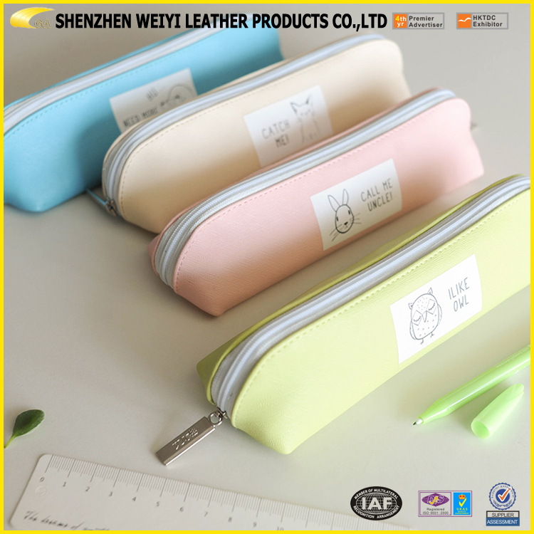 Cute Wholesale Customized Pencil Case,Smiggle Pencil Case,PU Leather Pencil Case For Teenagers