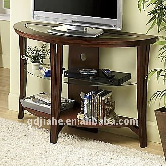 Livingroom LCD TV Table Design Lcd Wooden Table Top Tv Shelf