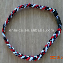New 3 Ropes Tornado Ionic Titanium Baseball Team Sports Goods Necklace