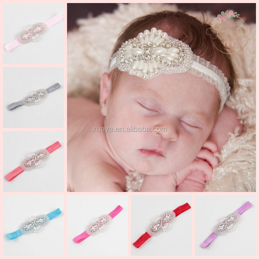 Wholesale boutqiue rhinestone infant turban headband