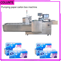 High speed toilet paper carton box packing machine