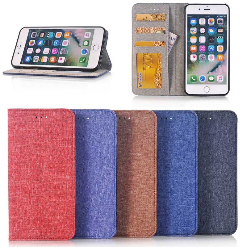 Multi Color Jeans Pattern Leather Wallet case for iPhone 7 Plus, for Mobile Phone Case