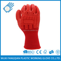 Customized Colorful Rubber Coating Working Hand Gloves