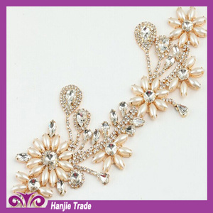 Bling bling Rhinestone trimming beaded applique sewing applique For Wedding  Dress c61f0400f007