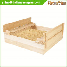 Strongbox Square Wooden Sandpit for children