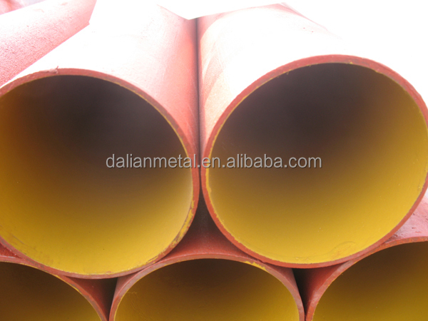 China Epoxy DN50 to DN300 red UPC Approval cast iron pipe