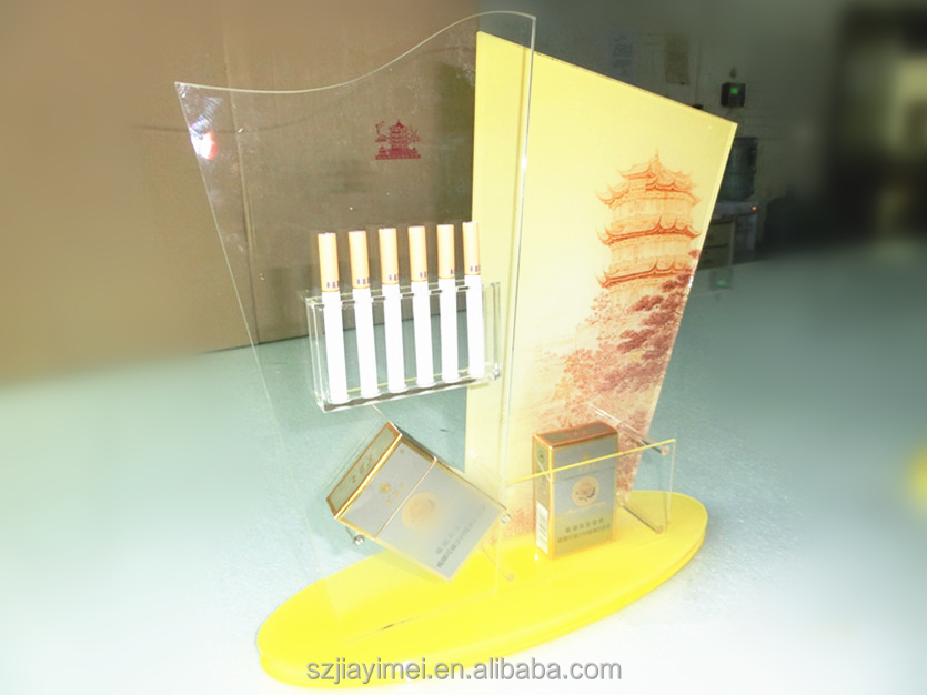 Custom cigarette display ,acrylic cigar display stand, smoke display rack