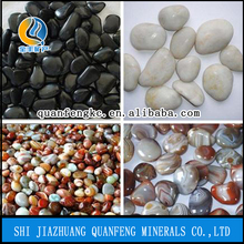 color natural pebble stones, river rock for landscaping