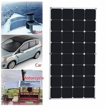 Best quality 100W sunpower Solar Panel waterproof flexible solar panel for boats cars