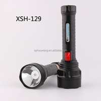 Cheap Factory Price High Power Bright Light Emergency Torch Flashlight Household Plastic Electric Rechargeable Led Falshlight