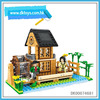DIY toy for kid educational toys 260pcs simualtion farm building blocks